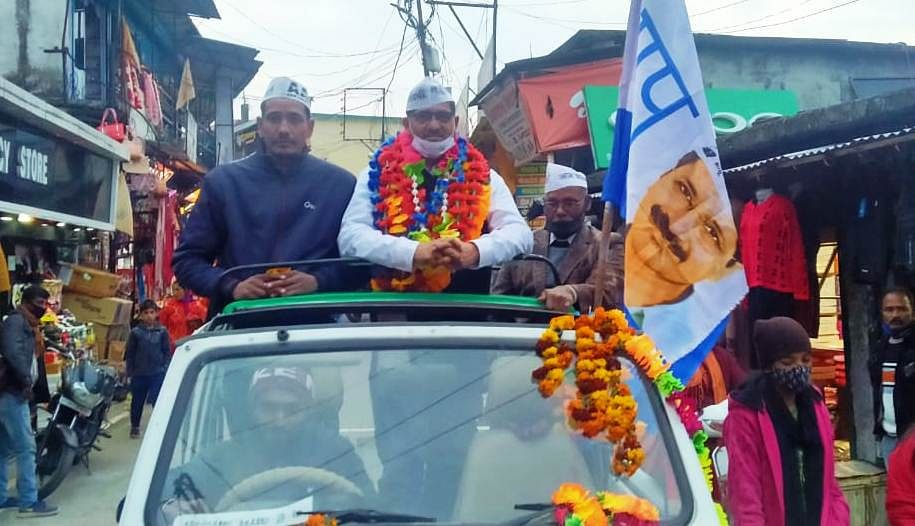 AAP's state vice president gets a grand welcome in Chamoli district