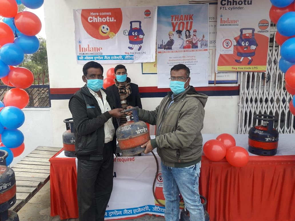Indane Gas Agency makes a new start, now small cylinders will be available at pumps and grocery stores