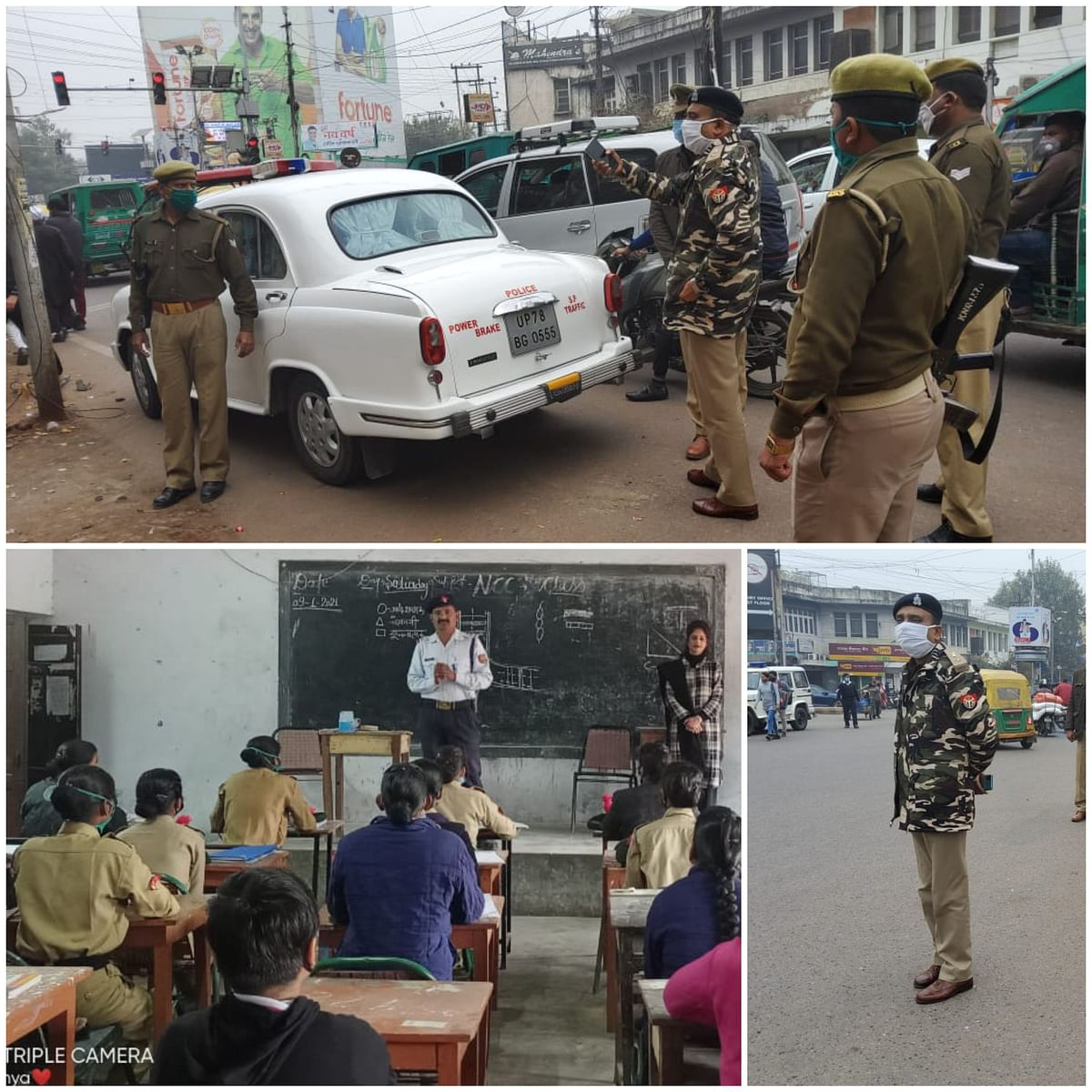 Campaigned against vehicles parked illegally on roads and fined