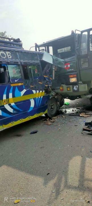 Matador and Army vehicle collide, 5 injured