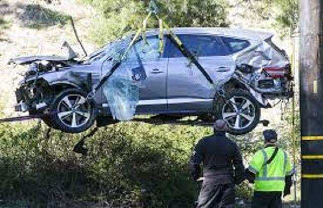 प्रसिद्ध गोल्फ खिलाड़ी टाइगर वुड्स कार दुर्घटना में घायल