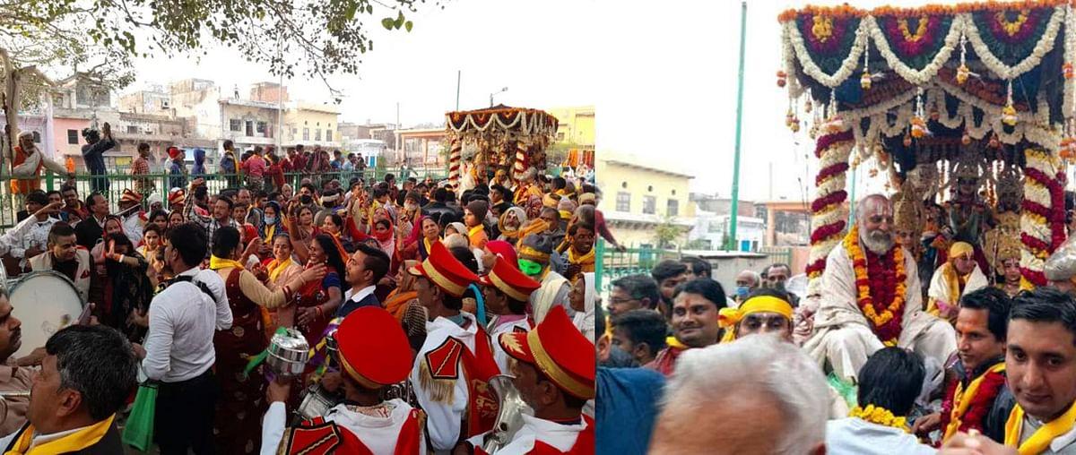 वृंदावन : जगद्गुरू रामानंदाचार्य जयंती हुए विविध धार्मिक आयोजन, निकली भव्य शोभायात्रा