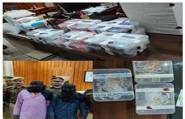 सुल्तानपुर : दो अंतरराज्यीय चोर गिरफ्तार, सोने-चांदी के आभूषण बरामद