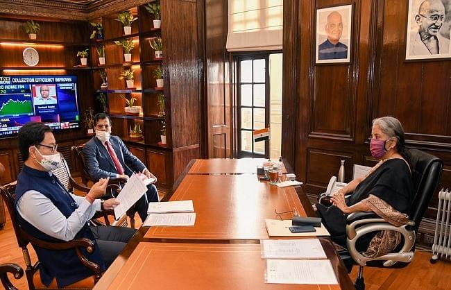 रिजिजू ने खेलों के विकास तथा इंफ्रास्ट्रक्चर निर्माण पर वित्त मंत्री से की चर्चा
