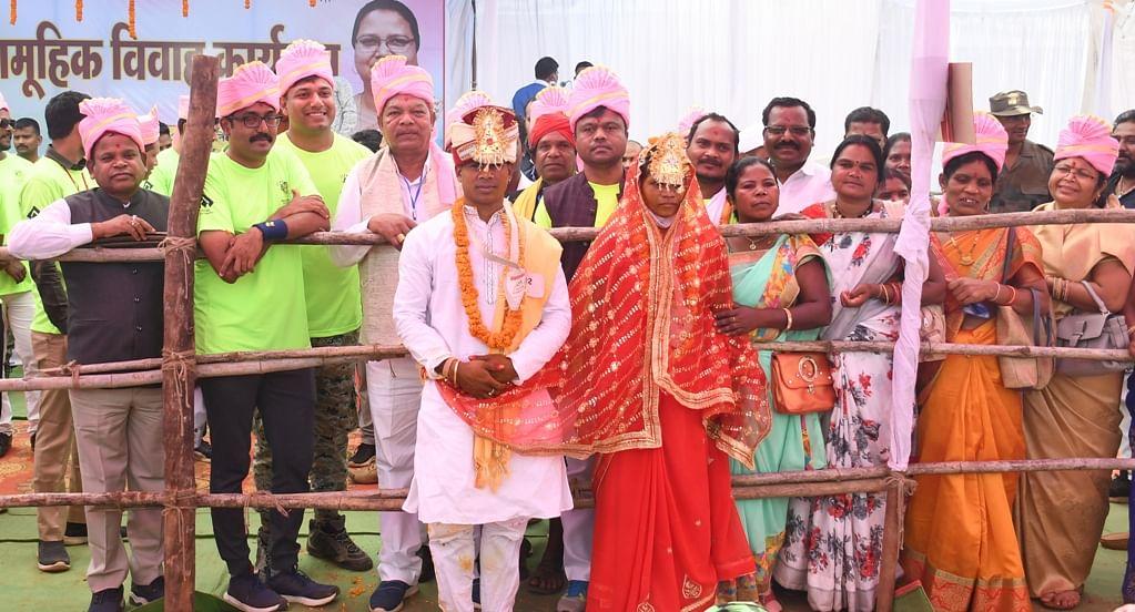 नारायणपुर : अबूझमाड़ की धरा पर आयोजित सामूहिक विवाह में 181 जोड़ों ने किया दाम्पत्य जीवन में प्रवेश