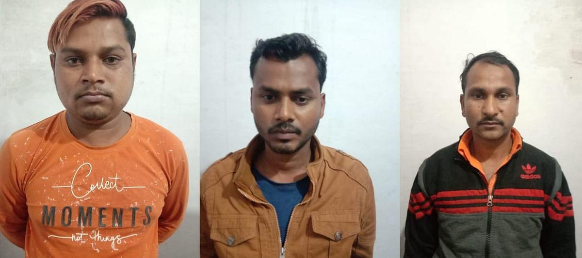 डीजल चोरी कर ले जाते तीन गिरफ्तार,65 लीटर डीजल जप्त