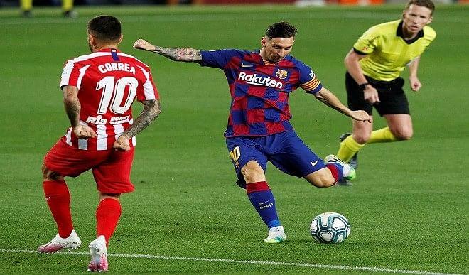 मेस्सी ने रिकार्ड मैच में दागे दो गोल, बार्सिलोना को दिलायी बड़ी जीत