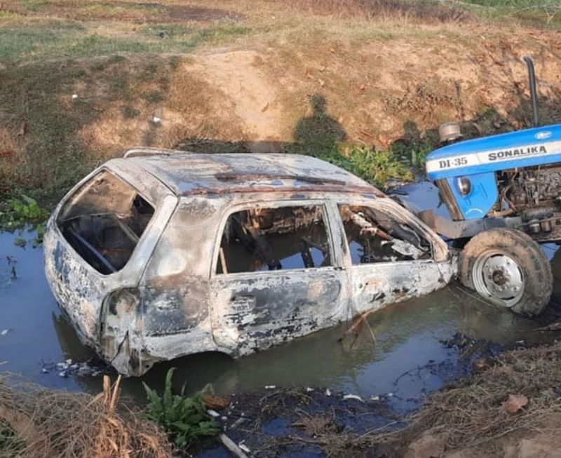 firing-during-idol-immersion-in-bhojpur-and-police-may-fall-in-a-ruckus-case