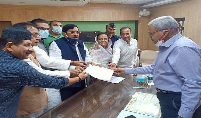 मध्य प्रदेश राज्य निर्वाचन आयोग को कांग्रेस ने सौंपा ज्ञापन, मतदान सूची के पुनरीक्षण कार्य में फर्जीवाड़े का आरोप