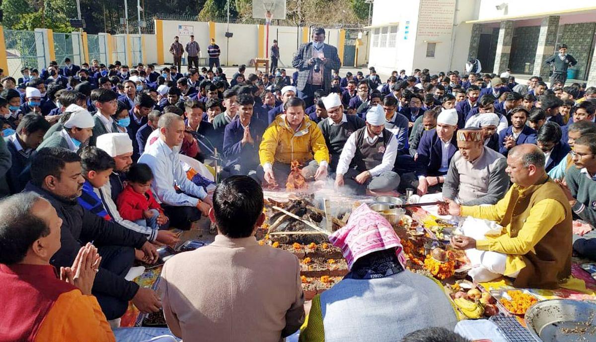 बसंत पंचमी का त्योहार धार्मिक श्रद्धा एवं हर्षोल्लास के साथ मनाया