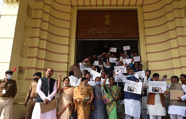 बिहार बजट सत्र: विधानसभा में विपक्ष का हंगामा, सदन गुरुवार 11 बजे तक स्थगित