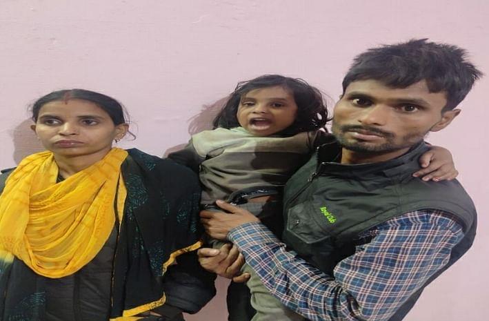 भिवाड़ी पुलिस की 5 घण्टे की मुस्तैदी ने लापता चार साल की अनन्या को माता-पिता से मिलाया