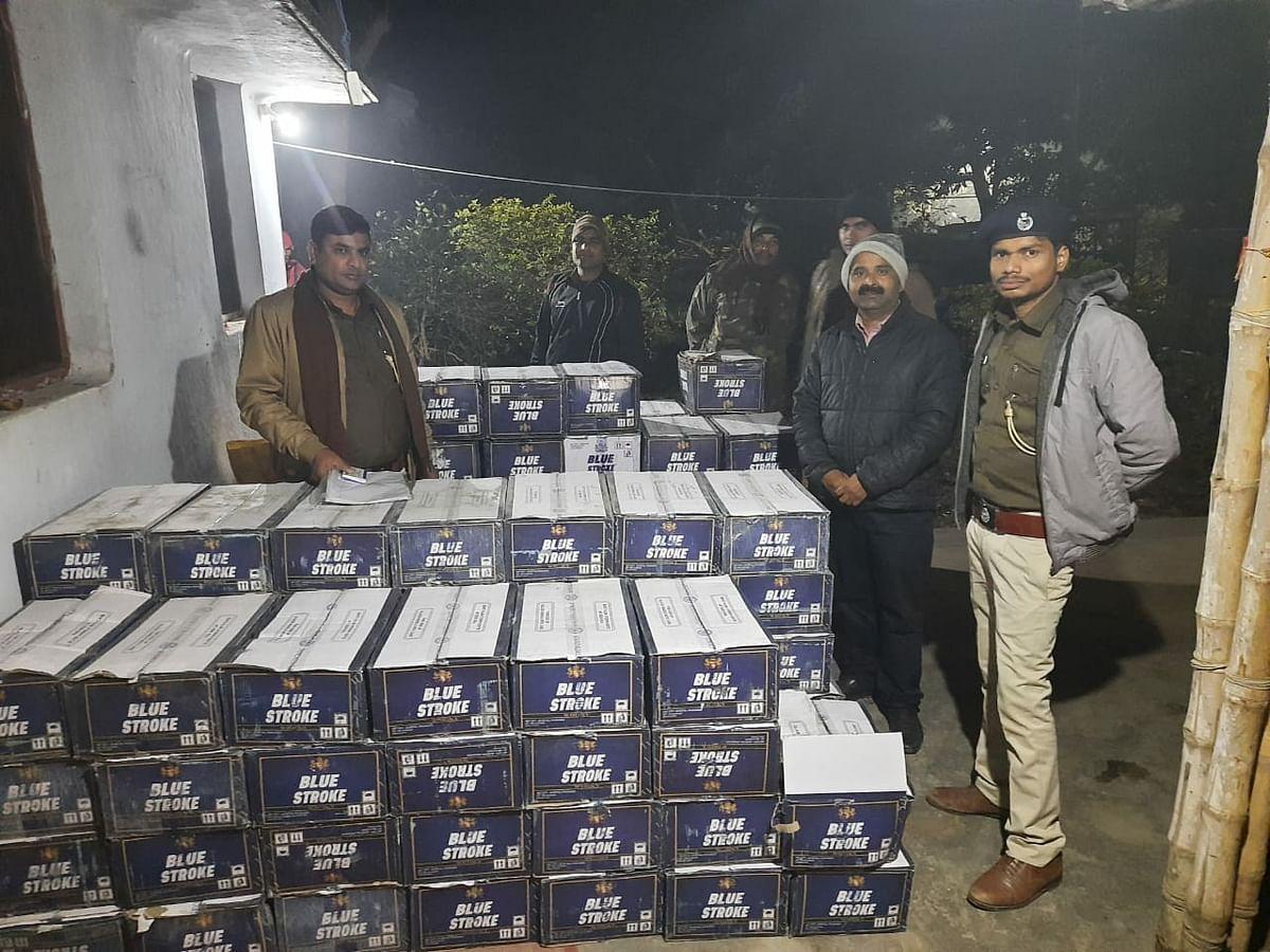 उत्पाद विभाग ने बिराटपुर गांव में छापामार भारी मात्रा में किया शराब बरामद