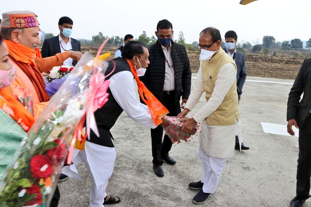 नर्मदा जन्मोत्सव में शामिल होने मुख्यमंत्री पहुंचे अमरकंटक, जनप्रतिनिधियों ने किया स्वागत