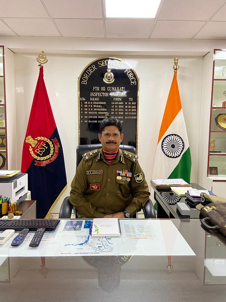 ig-gehlot-of-sisub-frontier-headquarters-guwahati-takes-charge
