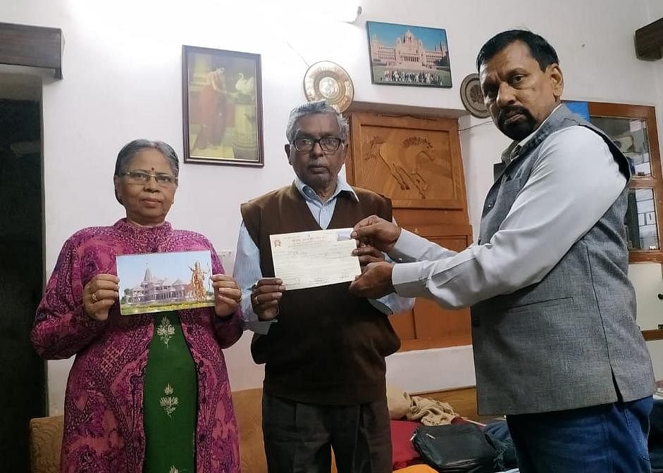 श्रीराम मंदिर निर्माण में भक्तों ने दी लाखों की सहायता राशि