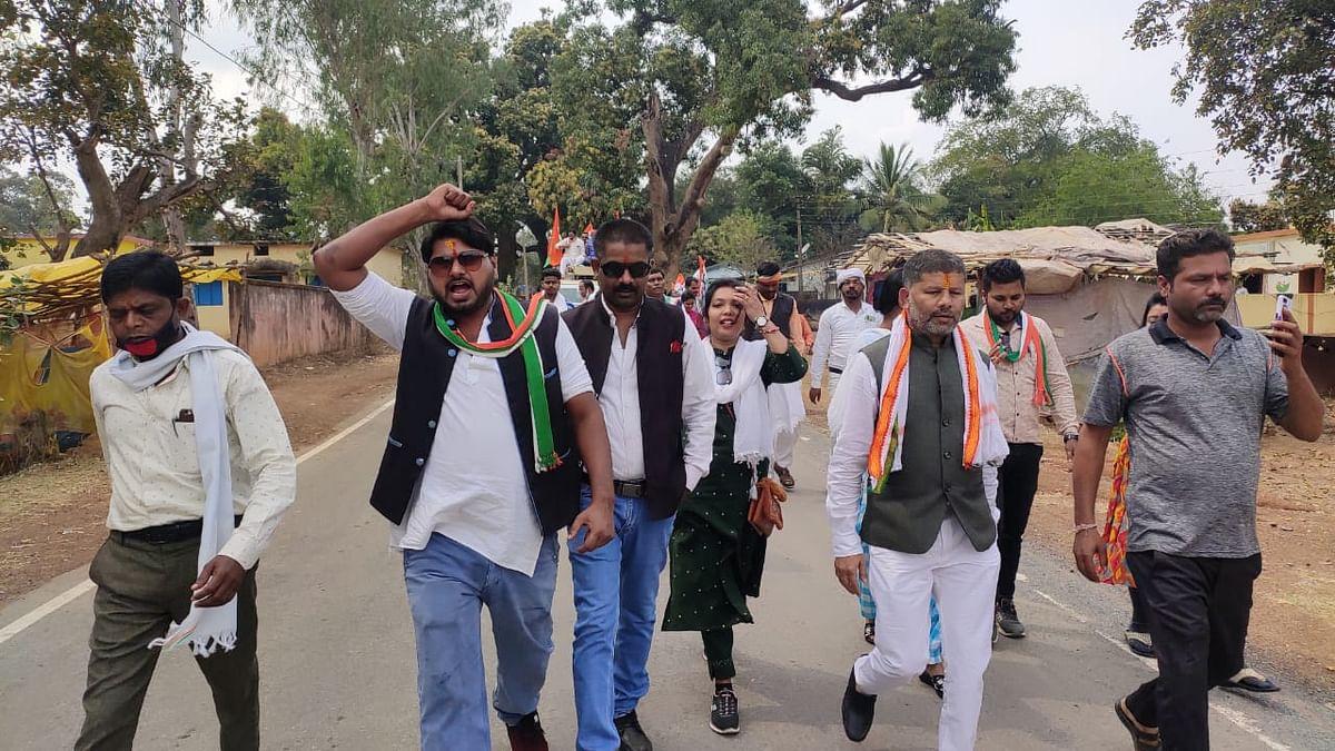 कोंडागांव : दिल्ली में आंदोलनरत किसानों के समर्थन में कांग्रेस ने निकाली एक दिवसीय पदयात्रा