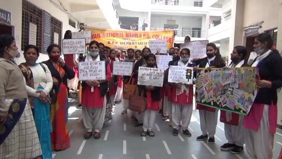 सड़क सुरक्षा माह : विद्यार्थियों ने चलाया जागरूकता अभियान