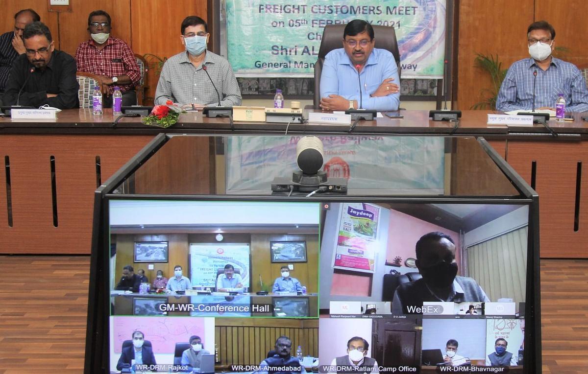 पश्चिम रेलवे : मालभाड़ा ग्राहकों के साथ वेब कॉन्फ्रेंस 'संवाद' का आयोजन