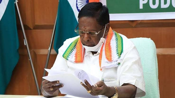 पुडुचेरीः कांग्रेस की सरकार गिरी, बहुमत साबित नहीं कर पायी नारायणसामी सरकार (लीड-1)