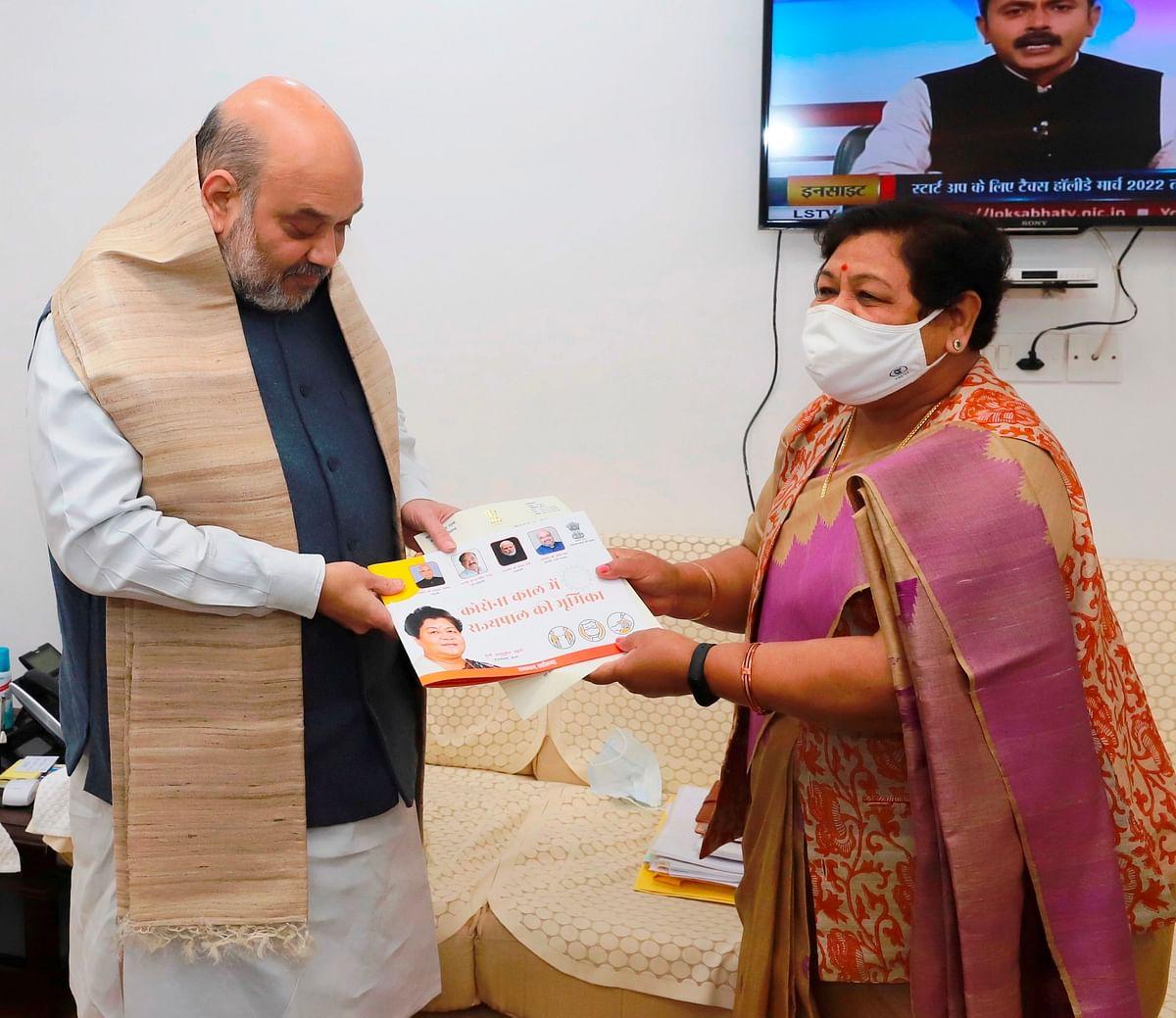 रायपुर: केन्द्रीय मंत्री अमित शाह से भेंटकर  राज्यपाल उइके  ने नक्सलवाद सहित प्रदेश के विभिन्न मुद्दों पर की चर्चा