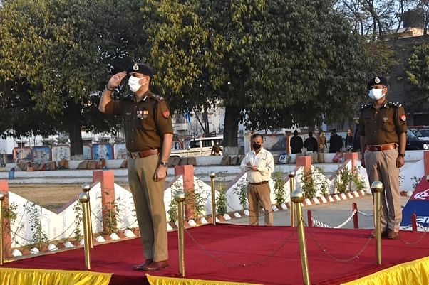 वाराणसी : आईजी जोन ने रिजर्व पुलिस लाइन का किया वार्षिक निरीक्षण