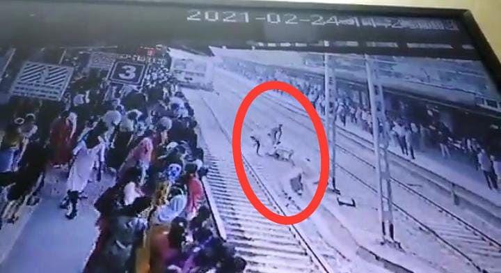 आरपीएफ निरीक्षक ने बचाई युवक की जान