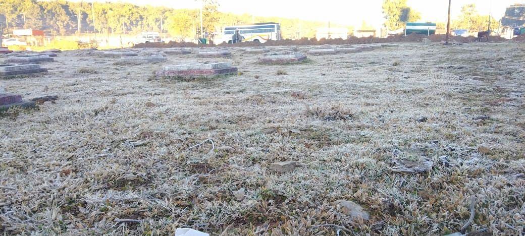 नर्मदा तट और मैदानी भागों में तीसरे दिन भी जमी बर्फ की परत, शीतलहर में ठिठुरा अमरकंटक