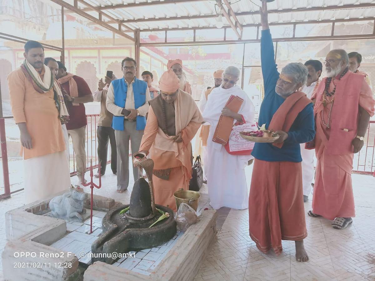 अग्नि अखाड़ा की महामंडलेश्वर कनकेश्वरी देवी नर्मदा की परिक्रमा अमरकंटक पहुंची