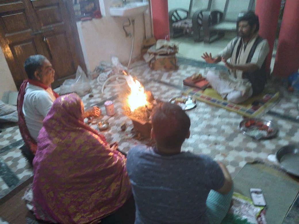 माघ महीने के गुप्त नवरात्र में काशी में घरों में हवन पूजन, मां दुर्गा की विशेष आराधना