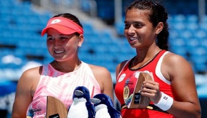 ankita-raina-and-kamila-rakhimova-pair-won-the-phillip-island-trophy-title
