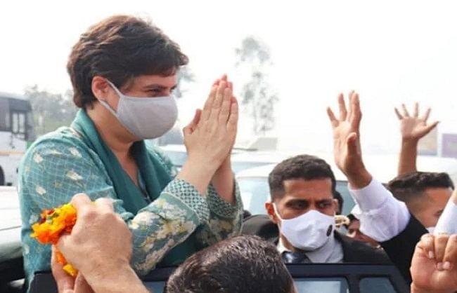 मेरे भाई राहुल गांधी किसानों के साथ, आपकी बातें संसद में रखी - प्रियंका गांधी