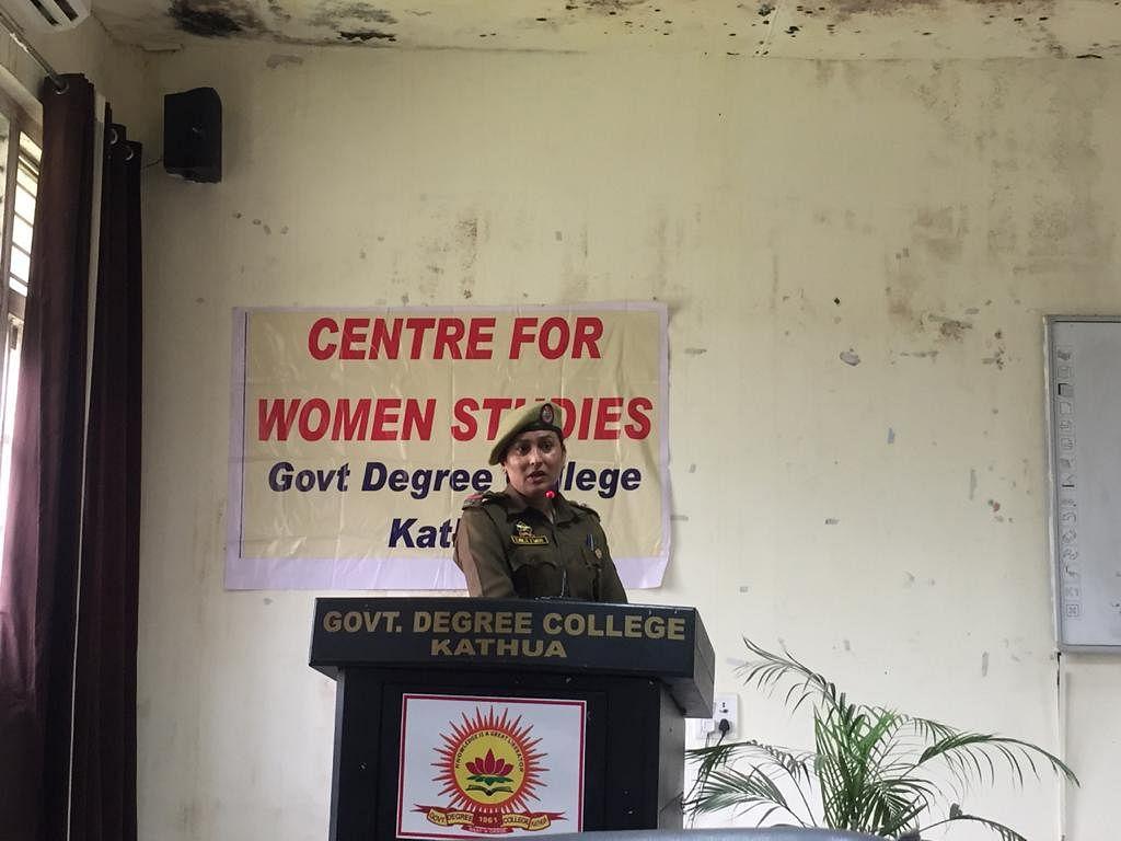 महिला डिग्री कॉलेज कठुआ में महिला सुरक्षा पर एक दिवसीय कार्यशाला का आयोजन