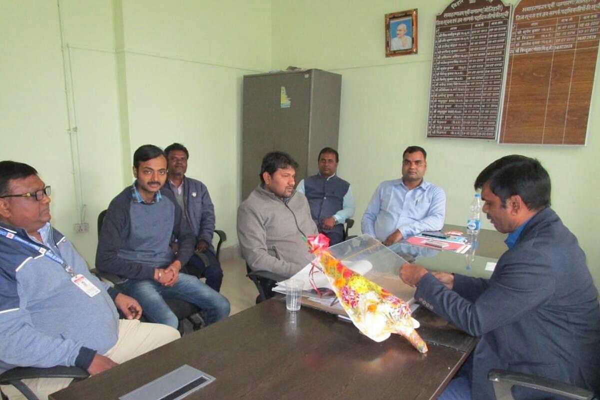 डीपीआरओ पूर्वी चम्पारण के पद पर भीम शर्मा ने किया पदग्रहण
