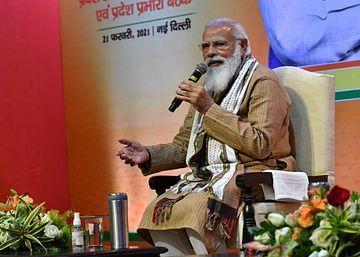 भाजपा पदाधिकारियों की बैठक में मोदी ने दिया पांच राज्यों के विधानसभा चुनाव में जीत का मंत्र