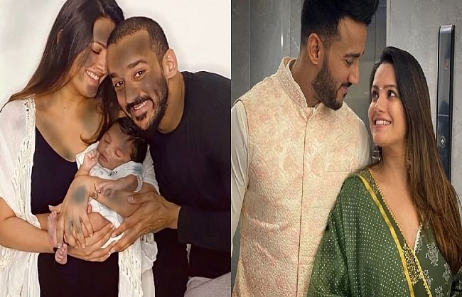 anita-hasanandani-and-rohit-reddy-show-their-first-glimpse-of-their-son-aarav-to-fans