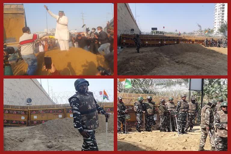 किसानों की मिट्टी पर अर्धसैनिक बल और दिल्ली पुलिस का कब्जा
