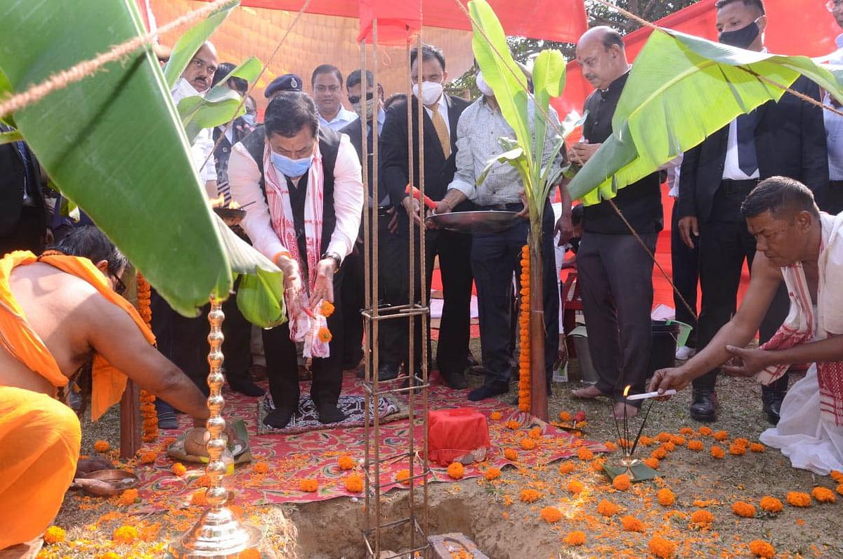 सीएम ने देरगांव में असम पुलिस अकादमी के निर्माण कार्य का किया शुभारंभ
