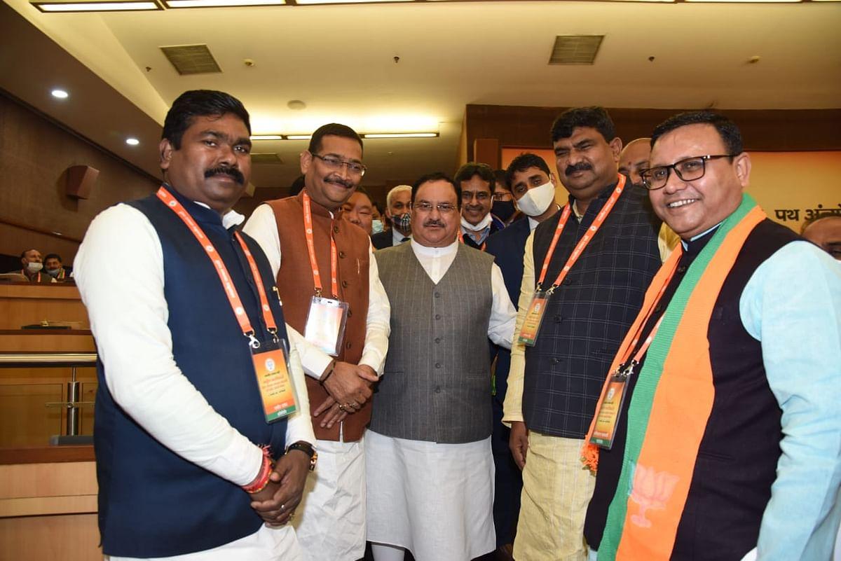 राष्ट्रीय पदाधिकारियों की बैठक में शामिल हुए झारखंड भाजपा के नेता
