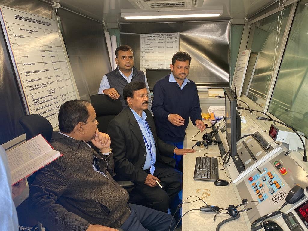 कुशीनगर एयरपोर्ट के संचार व नेविगेशन सिस्टम का हुआ परीक्षण