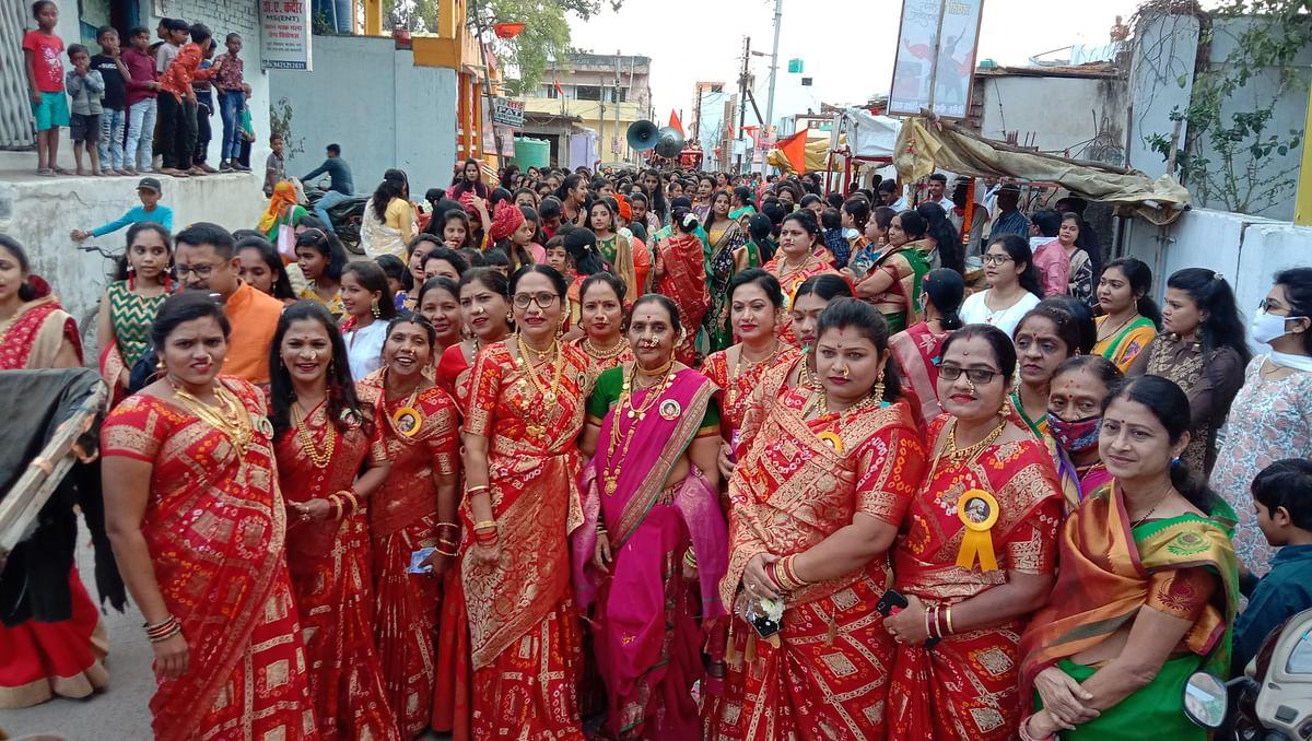 धमतरी : छत्रपति शिवाजी महाराज की जयंती पर गूंजा जय भवानी, जय शिवाजी