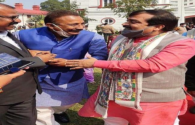मंत्री जीवेश मिश्रा ने नवनियुक्त मंत्रियों को दी बधाई