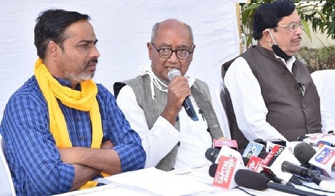 दिग्विजय सिंह की घोषणा कृषि कानूनों के खिलाफ और किसानों की समस्याओं को लेकर समूचे मध्य प्रदेश में होंगी किसान महापंचायत