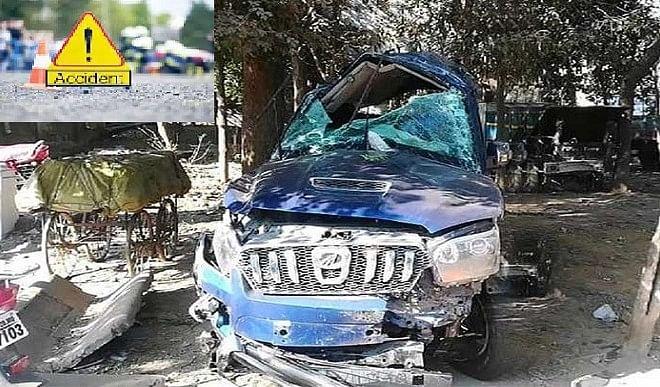 जबलपुर में फ्लाईओवर की रेलिंग तोड़कर नीचे गिरी कार, 3 युवकों की मौत 2 घायल