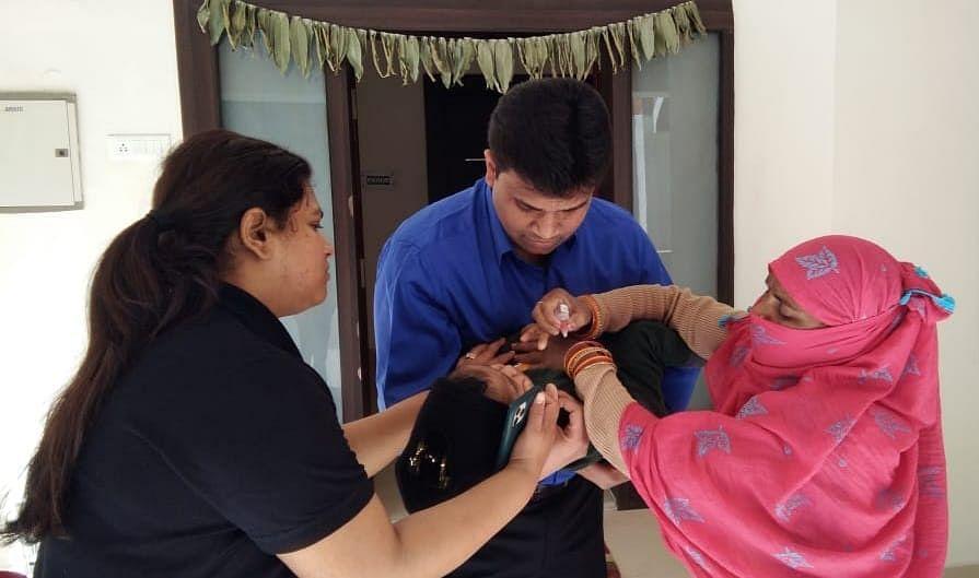 पल्स पोलियो अभियान में टीम-बी असंवेदनशील