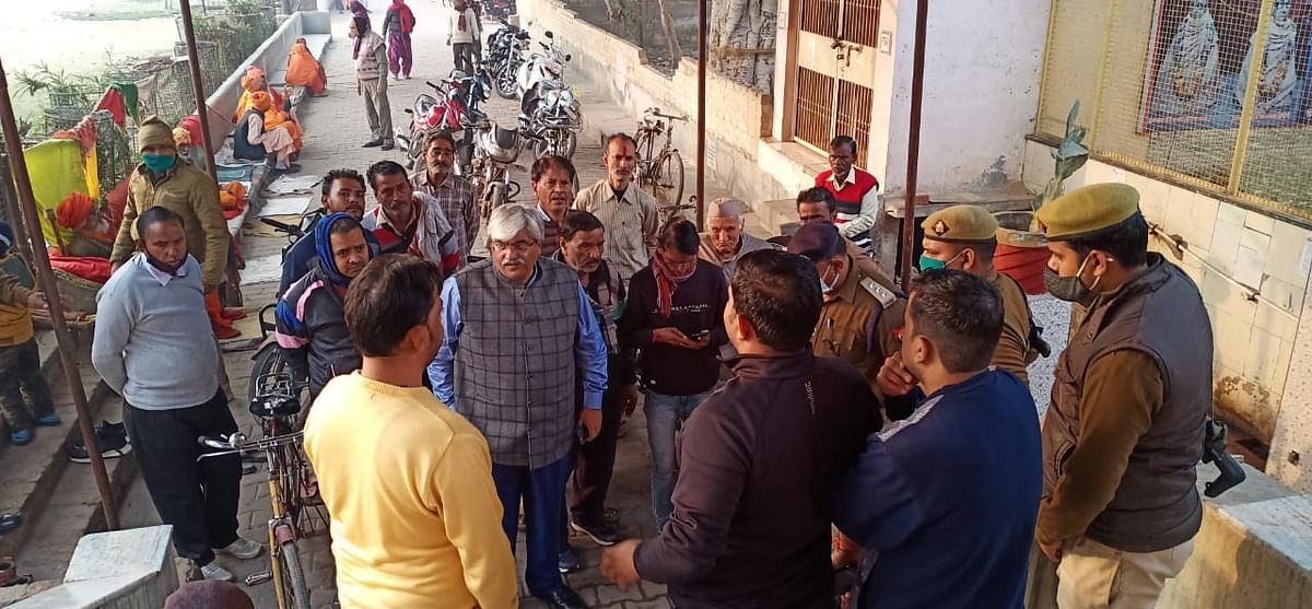 गोपाल आश्रम मंदिर में चोरी, संदिग्धावस्था में साधु की भी मौत, पुलिस जांच में जुटी