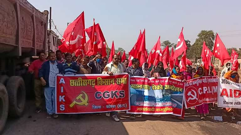 hundreds-of-civilians-descended-on-the-roads-for-passenger-train-operation-from-gevra-station-cpi-m-administration-demands-15-days