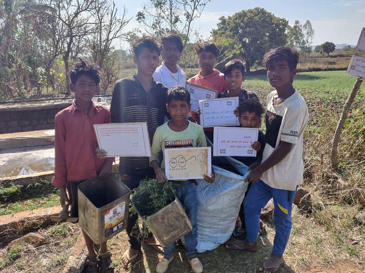 राष्ट्रीय विज्ञान दिवस पर बच्चों ने ग्रमीणों को बताया स्वच्छता का महत्व