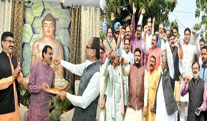 वीडी शर्मा को अध्यक्ष बने एक साल पूरा, भाजपा  कार्यकर्ता बोले एक साल बेमिशाल मुख्यमंत्री ने दी शुभकामनाएं