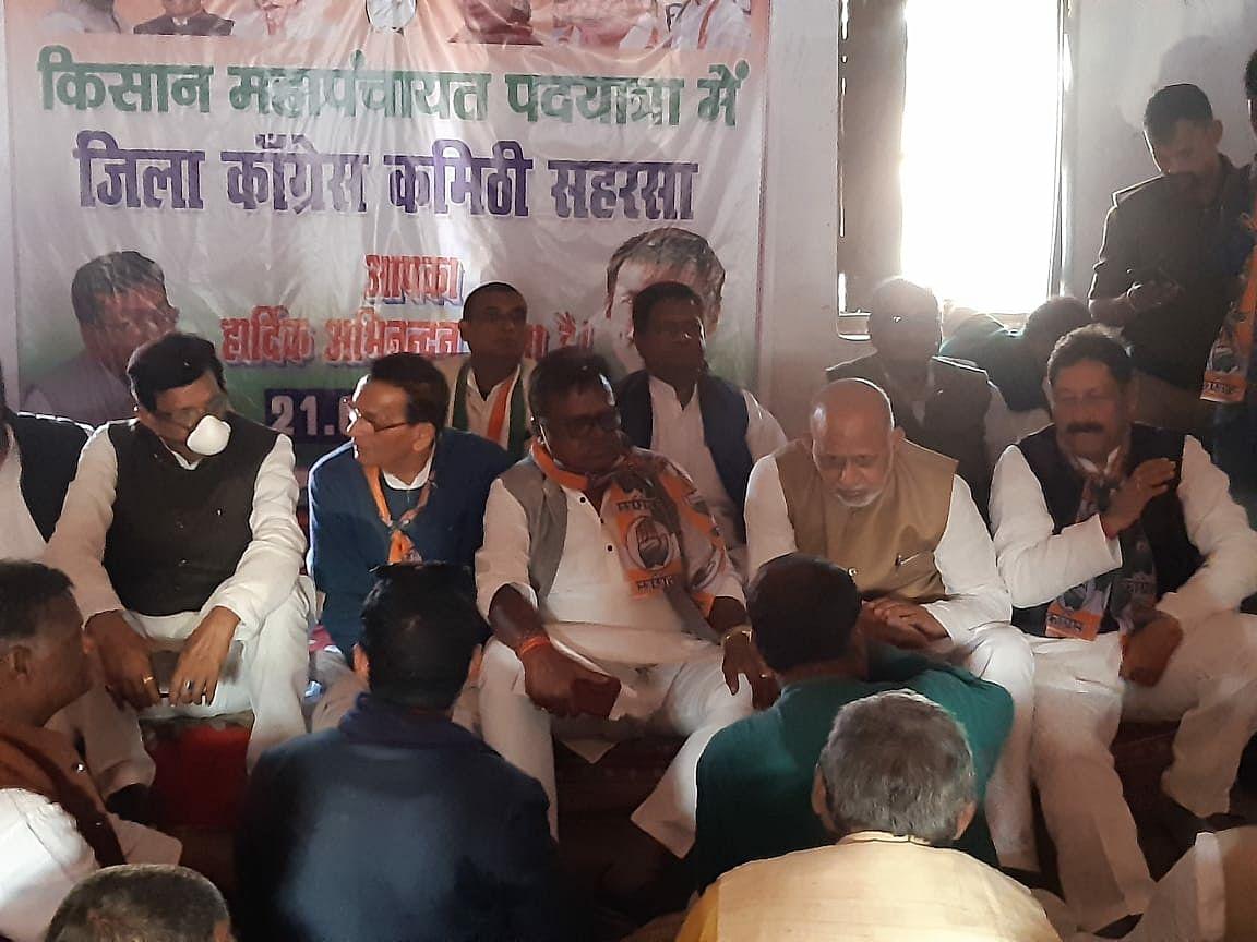 पूर्व केंद्रीय मंत्री व कांग्रेस पार्टी के महासचिव  सत्याग्रह पदयात्रा में हुए शामिल